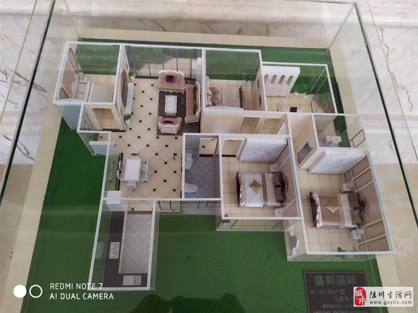 盛邦国际5室2厅2卫43.8万元