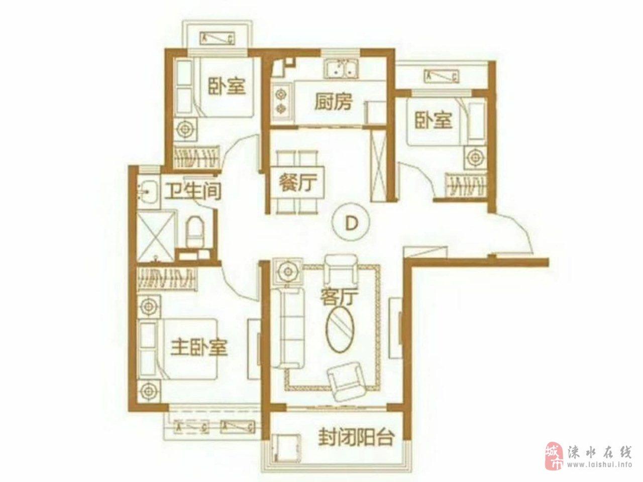 恒大京南半岛3室1厅1卫95万元