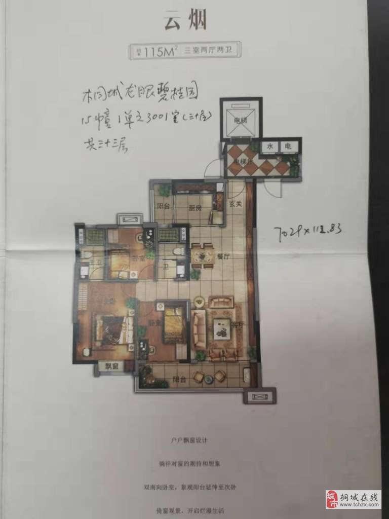 碧桂园·嘉誉三室毛坯期房出售.走一手证.
