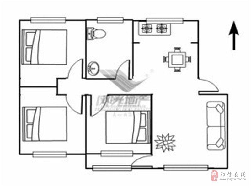 臺商花園精裝三居室·南北通透·老證·帶儲藏室