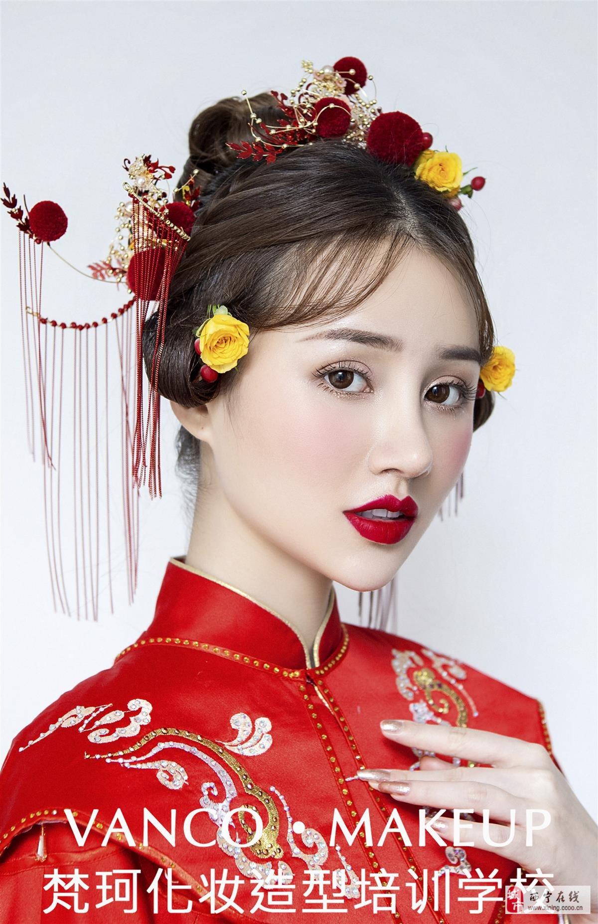古典的中式新娘造型