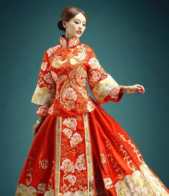 秀禾服和婚纱发型一致分享展示