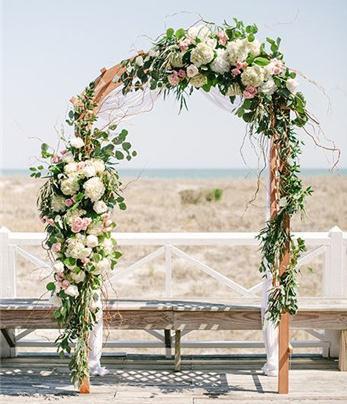 时尚婚礼仪式亭类型 婚礼场地布置灵感