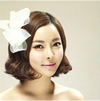 结婚当天短发新娘什么造型好看 短发新娘发型设计