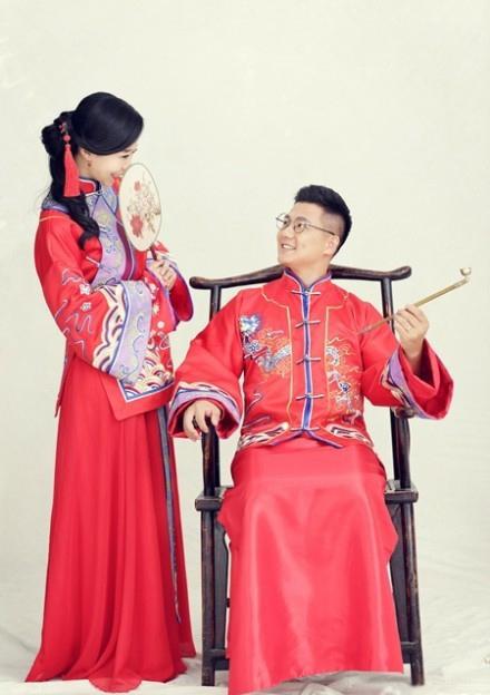 明星的中式结婚照