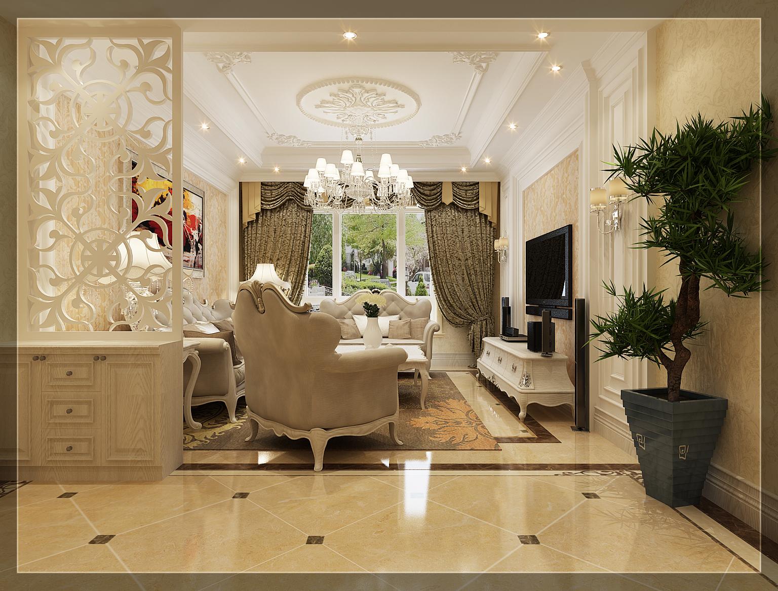 85平欧式风格样板房图片