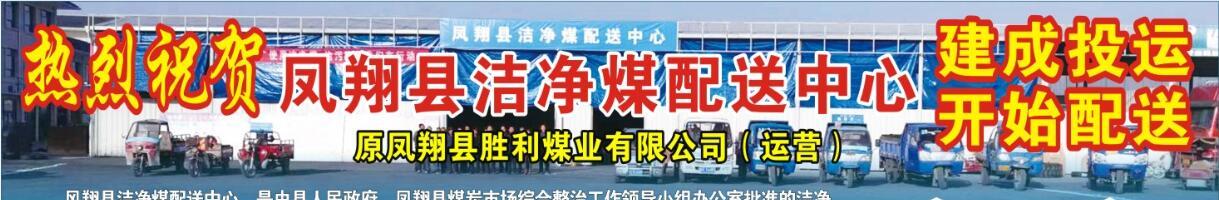 热烈祝贺凤翔县洁净煤配送中心建成投运 开始配送!!!