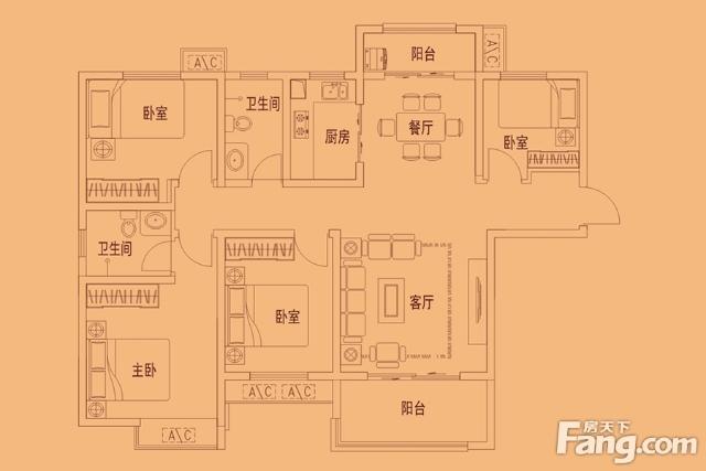 秦正公馆4室 2厅 2卫84万元