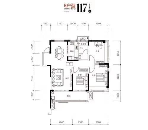 名邦·国际花都3室 2厅 2卫81万元