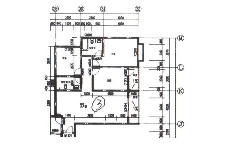 锦江8号楼3室 2厅 2卫54.8万元