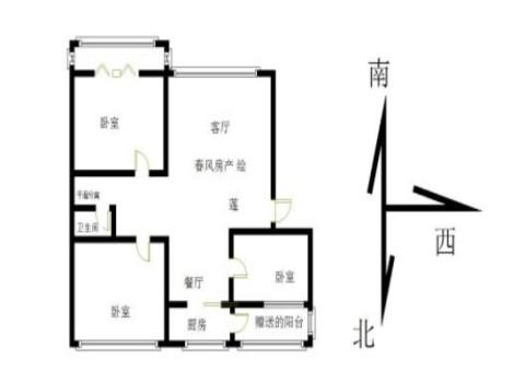 东都华庭3室 2厅 1卫91.2万元