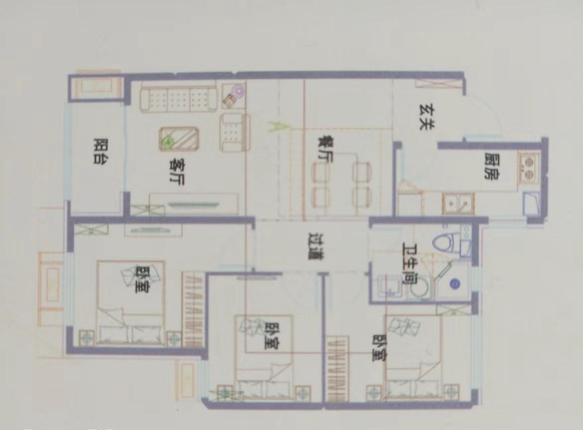 文轩佳苑3室 2厅 1卫82万元
