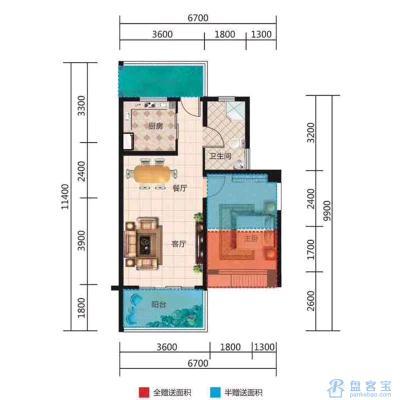 东方假日3室 2厅 2卫90万元