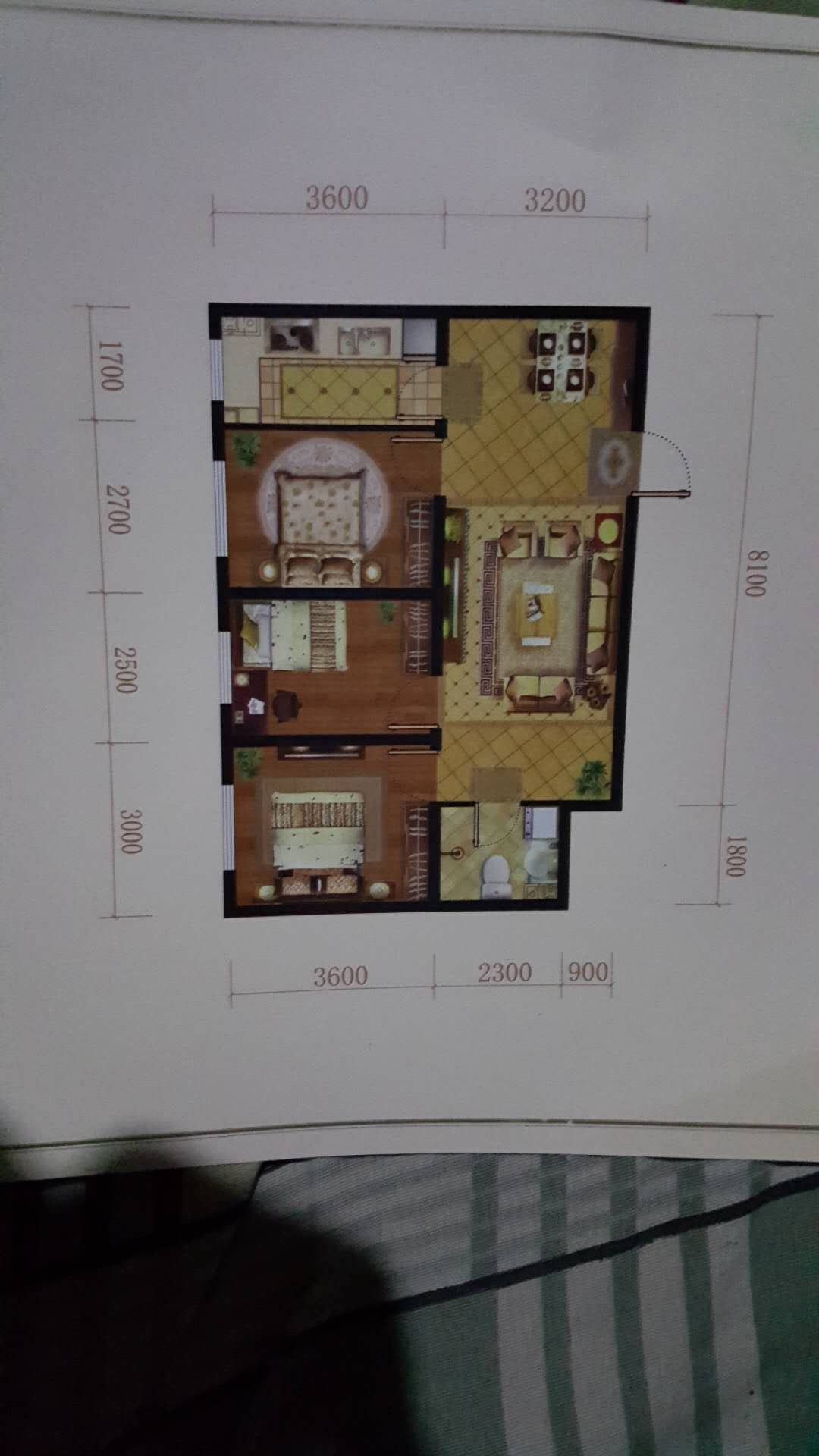 湖镜台3室 2厅 1卫54万元